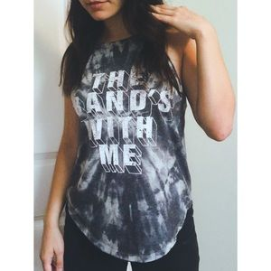 "Tie dye tank top ""the band is with me"""